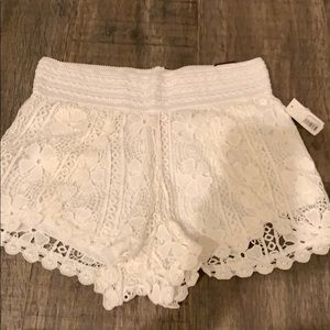 Other - Lace crochet junior shorts (new w tag)